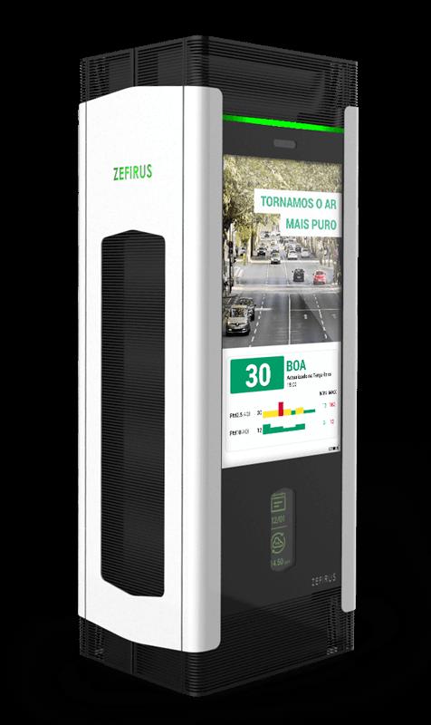 Purificador de ar para cidades | Soluções digitais para Municípios - Civiq Dream by PARTTEAM & OEMKIOSKS